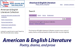 Screenshot of American and English Literature database