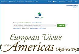 Search database- European Views of the Americas 1493-1750