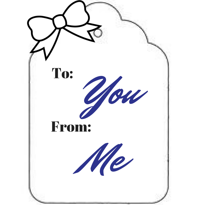 gift tag To: you From: me