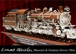 carved train locomotive