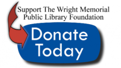 support the wright memorial public library foundation, donate today button